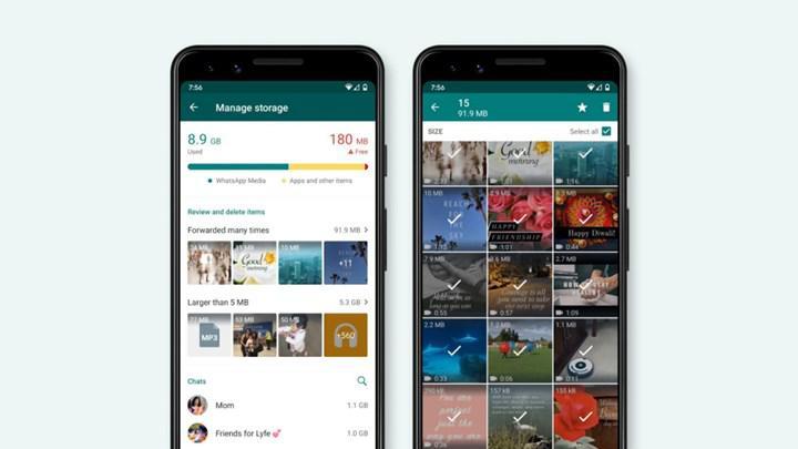 WhatsApp'ta depolama alanı yönetimi artık daha kolay