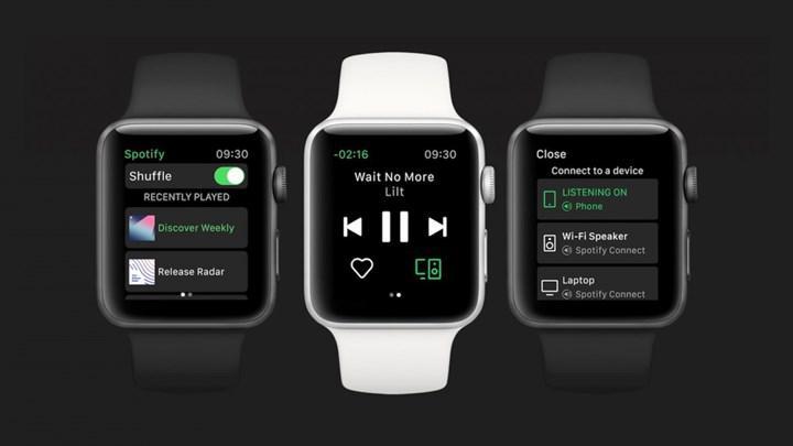Spotify'ın Apple Watch uygulamasına iPhone'a bağlanmadan müzik çalma özelliği geldi