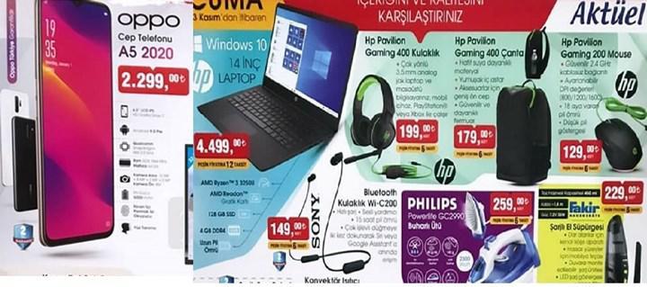 Haftaya BİM marketlerde uygun fiyata Oppo A5 2020 ve HP dizüstü modeli var