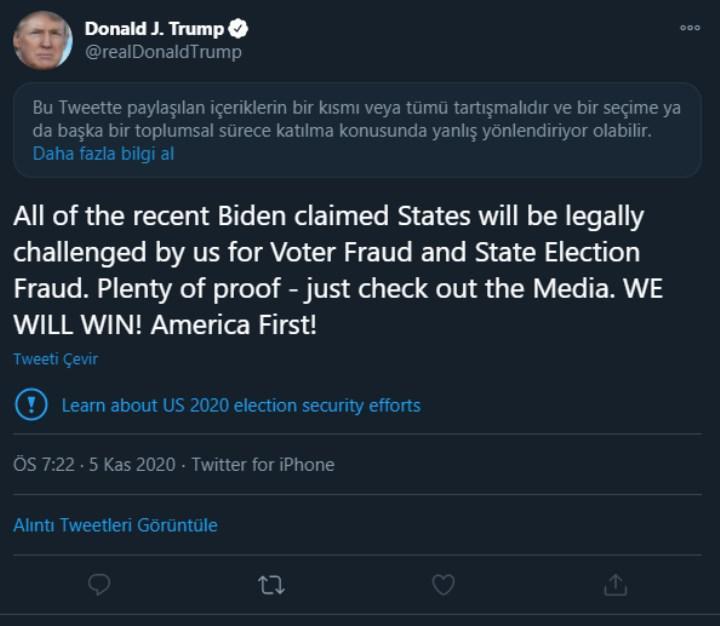 Trump seçimi kaybederse Twitter'dan banlanabilir