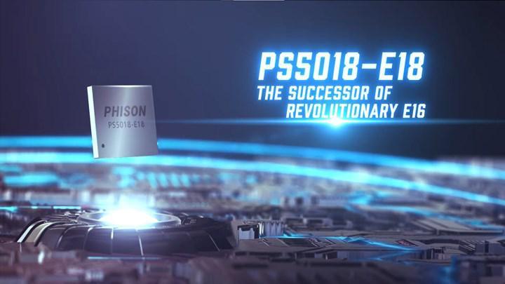 Phison 7.4 GB/s'ye ulaşabilen E18 kontrolcüsünü duyurdu