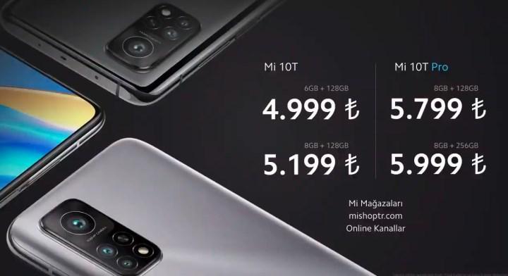 Amiral gemisi katili Xiaomi Mi 10T ve Mi 10T Pro'nun Türkiye fiyatı açıklandı