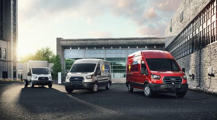Ford Transit'in elektrikli versiyonu E-Transit tanıtıldı: Türkiye'de üretilecek