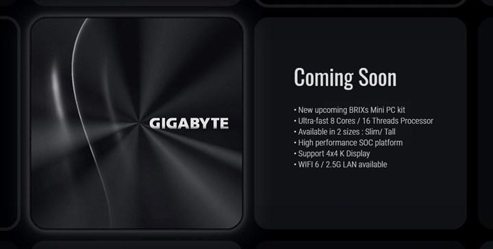 Gigabyte Renoir APU'lu BRIX mini PC hazırlıyor
