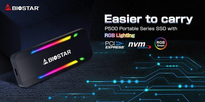 BIOSTAR P500 taşınabilir SSD sürücüsü tanıtıldı