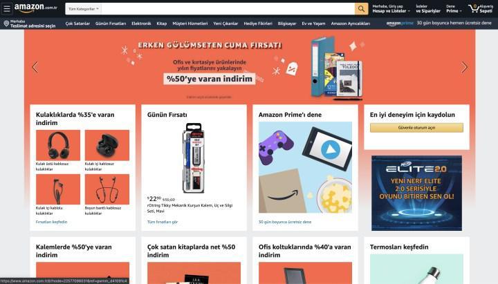 Amazon.com.tr yurt dışı ürünlerin satışına başladı