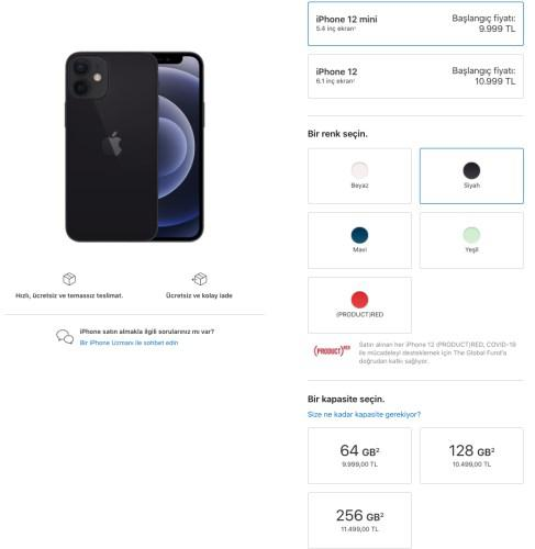 iPhone 12 Türkiye fiyatları Apple tarafından resmen açıklandı!