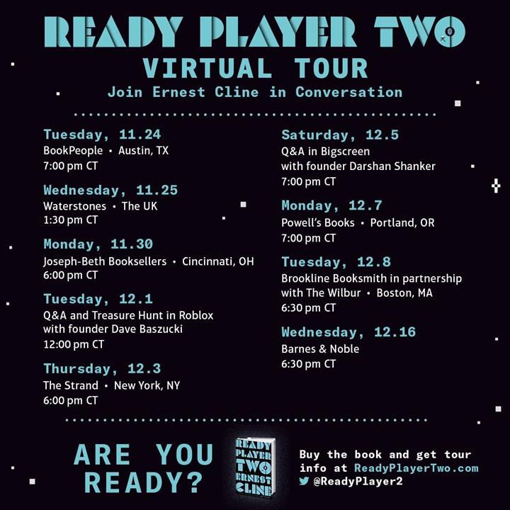 Ready Player Two etkinliği internet üzerinde yapılacak.