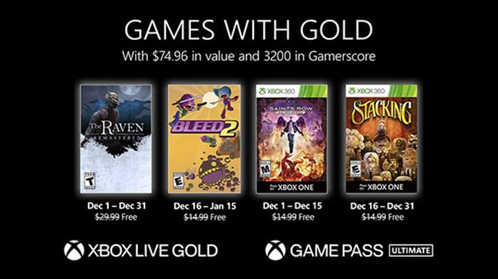 Xbox Live Gold üyelerine Aralık ayında verilecek ücretsiz oyunlar belli oldu