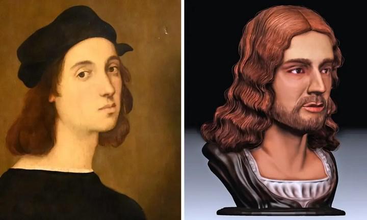 Raffaello Sanzio da Urbino'nun yüzü yeniden üretildi