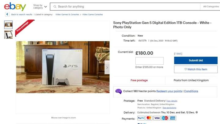 eBay, abartılı fiyata PS5 fotoğrafı satanların ilanını kaldırmaya başladı