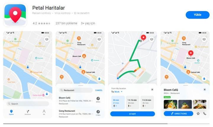 Google Haritalar'a rakip Petal Haritalar artık Huawei AppGallery'den indirilebiliyor