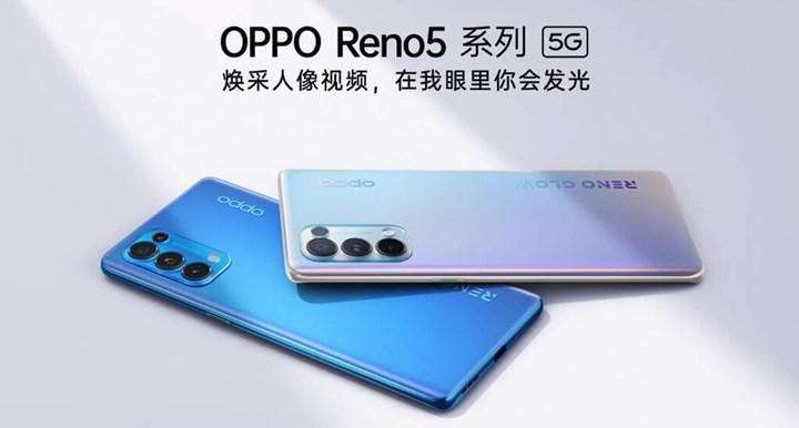 Oppo Reno5 Pro + renk değiştirebilir arka yüzey ile gelebilir