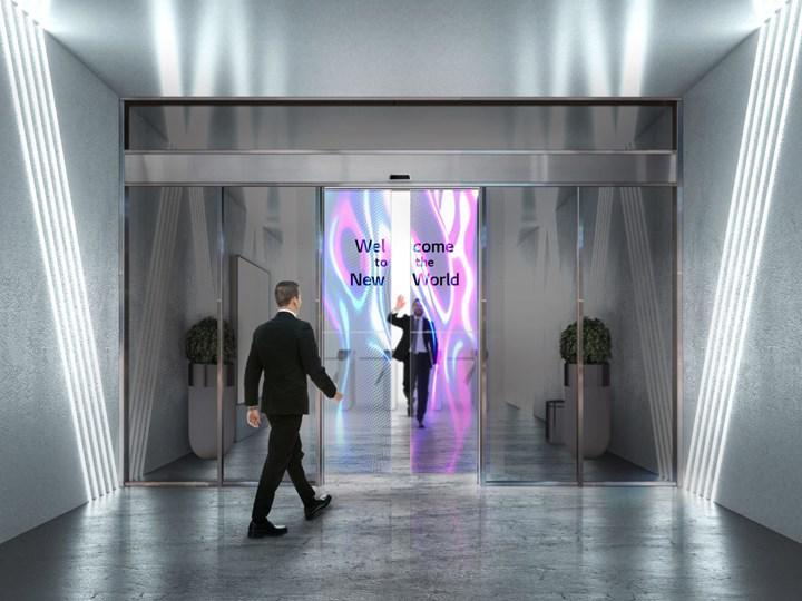 LG'nin şeffaf OLED panelleri, otomatik kayar kapılarda kullanılacak