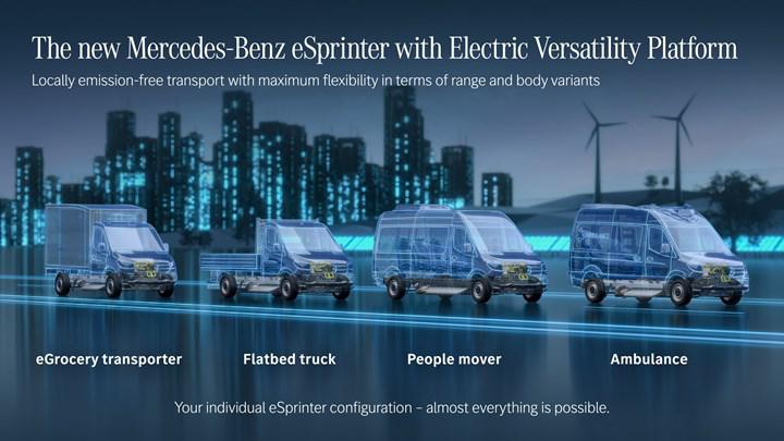 Yeni Mercedes-Benz eSprinter özel bir platform ve üç batarya seçeneğiyle gelecek