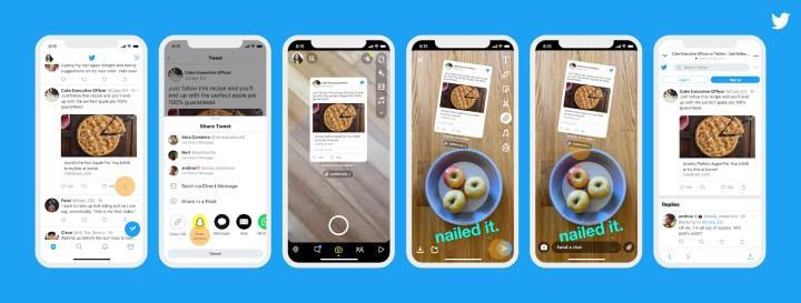 Instagram ve Snapchat'te tweet paylaşma dönemi başlıyor