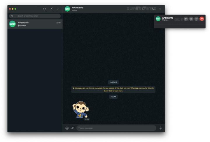 WhatsApp'ın web ve masaüstü sürümüne görüntülü ve sesli arama özelliği geliyor