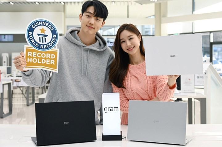 LG Gram 2021 serisi Guinness Rekorlar Kitabı'na girdi
