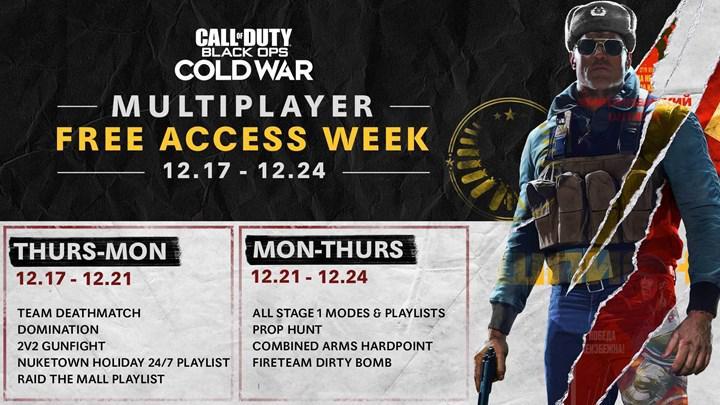 COD: Black Ops Cold War'u bir hafta boyunca ücretsiz oynayın
