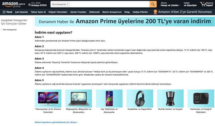 Amazon ve DonanımHaber işbirliği ile 15, 50 ve 200TL indirim kodu [Tükendi]