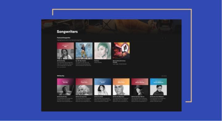 Spotify, şarkı yazarlarını öne çıkaran yeni bir özellik başlattı