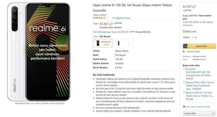 Amazon'da Oppo telefonlarda indirim