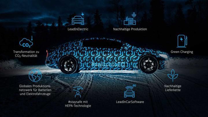 Elektrikli Mercedes EQS'ten yeni teaser geldi