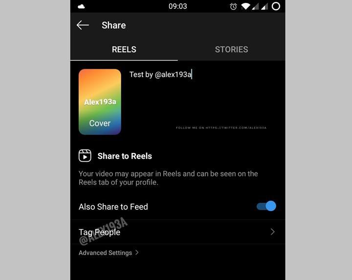 Instagram'in Tiktok benzeri kısa video özelliği Reels'a kişi etiketleri geliyor