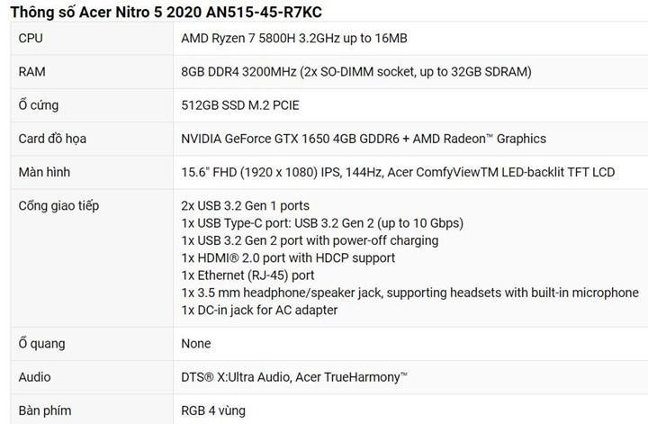 Ryzen 7 5800H ve RTX 3080'li Acer oyuncu dizüstüsü fiyatı sızdı