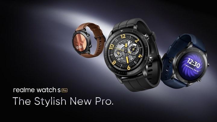 Realme Watch S Pro tanıtıldı: AMOLED ekran, SpO2 sensörü, 14 gün pil ömrü