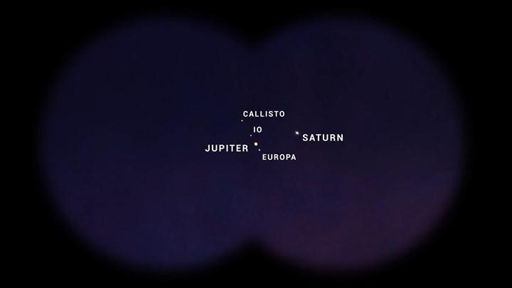 400 yıl sonra gerçekleşen Jüpiter-Satürn kavuşması Ay'dan görüntülendi