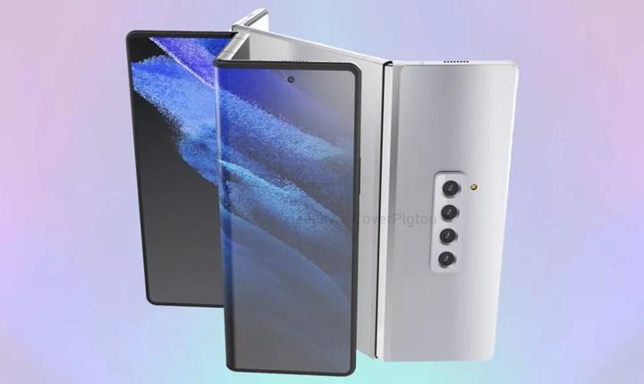 Samsung Galaxy Z Fold 3 render görüntüleri, telefonun muhtemel iki farklı tasarımını ortaya koyuyor