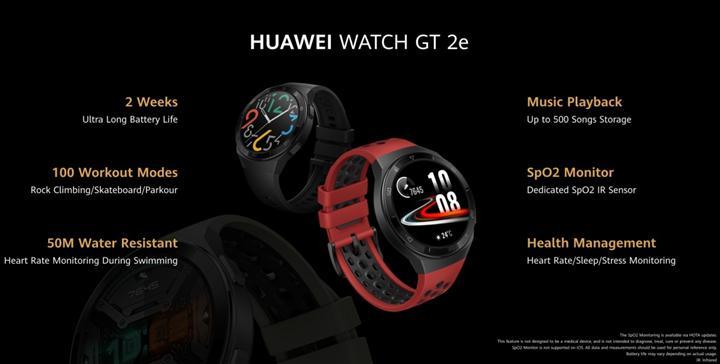 Huawei Watch GT 2e biraz daha spora odaklanıyor