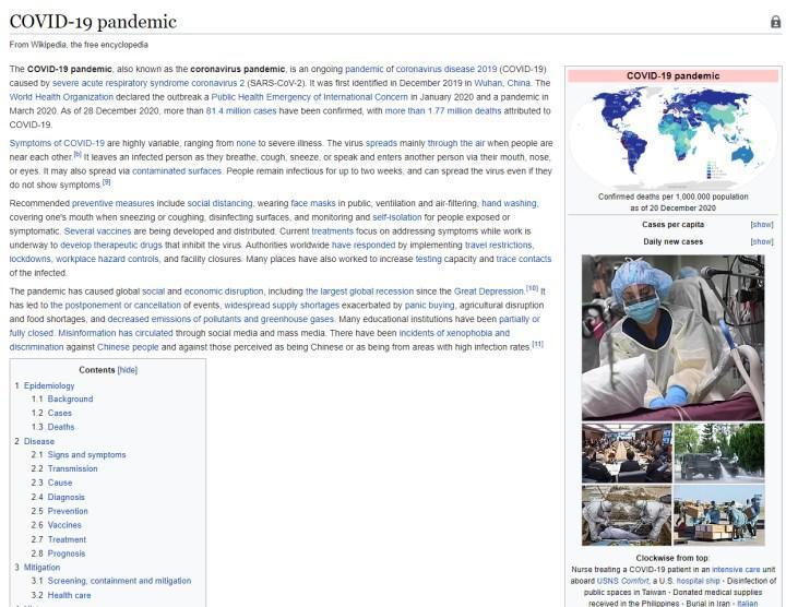 Wikipedia 2020'nin enlerini açıkladı