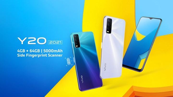 Uygun fiyatlı Vivo Y20 (2021) resmen tanıtıldı