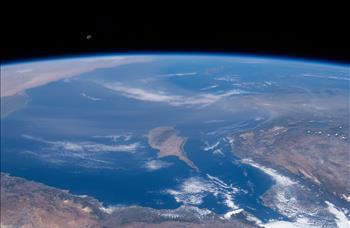 Kıbrıs'ın uzaydan görüntüsü
