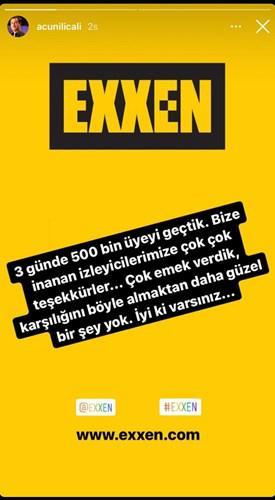 Exxen, 3 günde 500 bin üyeyi geçti