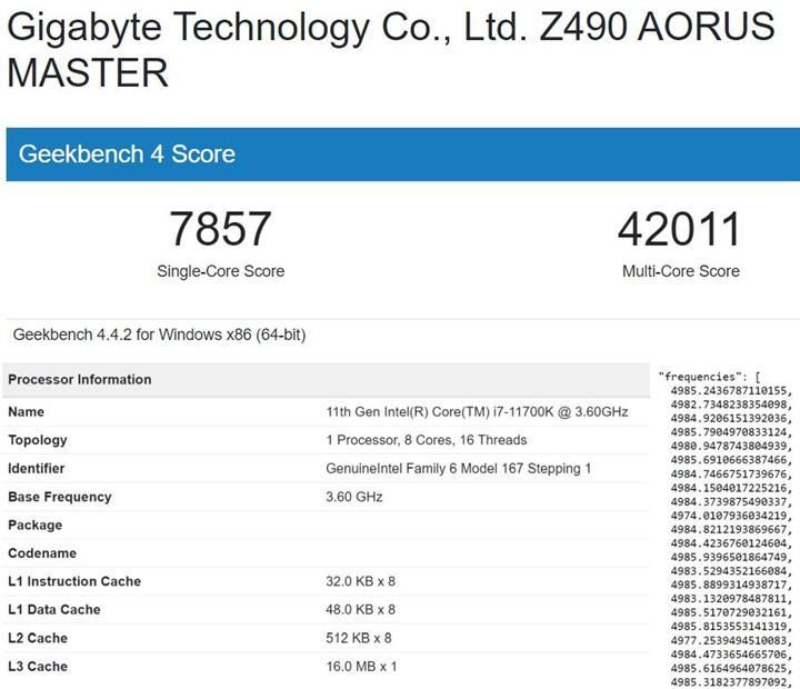 Intel Core i7-11700K selefinden %19 hızlı