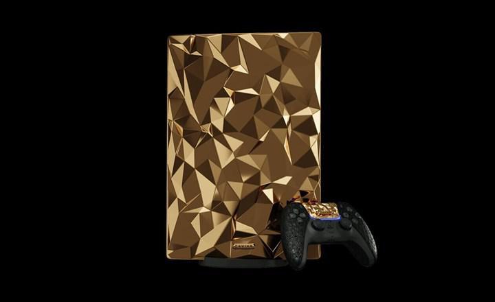 18 ayar altından oluşan 20 kiloluk PlayStation 5 görücüye çıktı