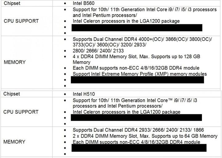 Intel B560 anakartlarla RAM'ler hız aşırtılabilir