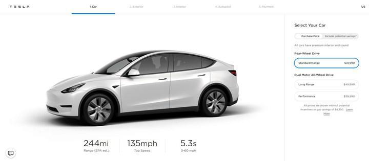 Tesla Model Y'nin en ucuz versiyonu 'Standard Range' satışa sunuldu