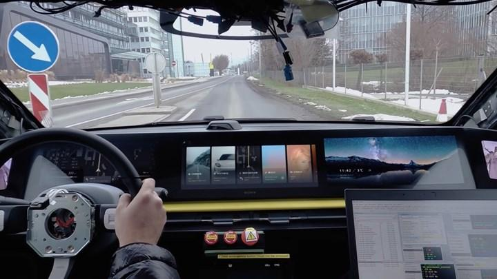Sony, elektrikli otomobilini Avrupa yollarında test etmeye başladı
