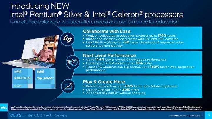 Intel Jasper Lake'i duyurdu, Tremont mimarili Atom çekirdekleri kullanılıyor