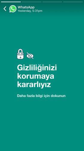 WhatsApp Türkiye'den yeni açıklama: Kişisel mesajlarınızı göremeyiz