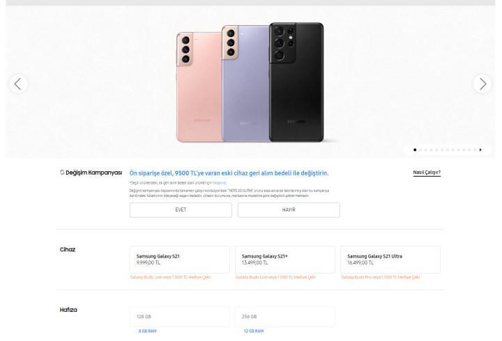 Samsung Galaxy S21 modellerinin Türkiye fiyatı açıklandı