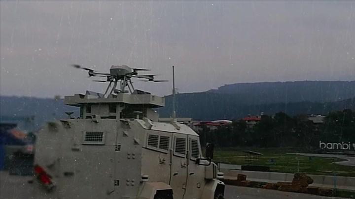 Otonom silahlı dron songar, 4x4 zırhlı araca entegre edildi
