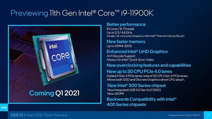 Intel Rocket Lake işlemcilerinin fiyatı sızdı: Intel fiyatları düşürebilir