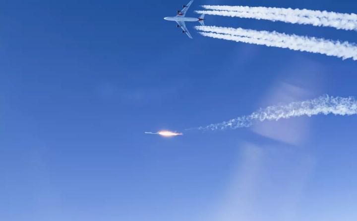 Boeing 747 üzerinden roket fırlatıldı: İşte o anlar