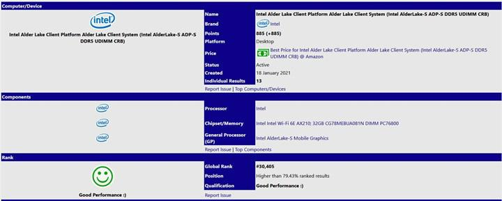 16 çekirdekli Intel Alder Lake işlemcisi DDR5 RAM'le ortaya çıktı