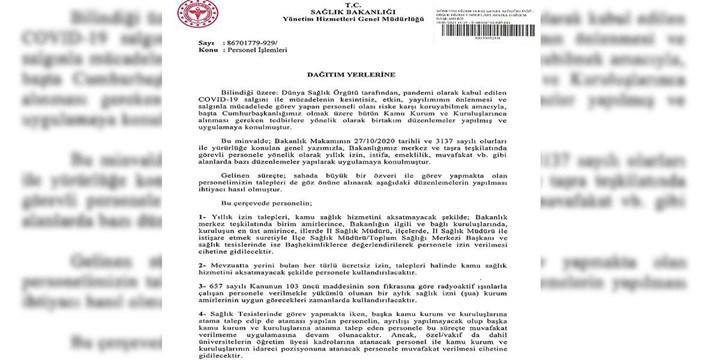 Sağlık çalışanlarına uygulanan izin yasakları kaldırıldı